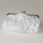 White Floral Rose Rhinestone Evening Bag 316