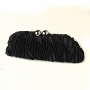 Black Satin Evening Bag 317