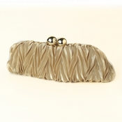 Gold Satin Evening Bag 317