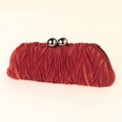 Red Satin Evening Bag 317