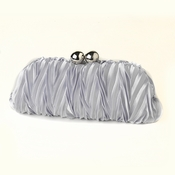 Silver Satin Evening Bag 317