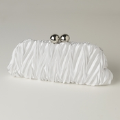 White Satin Evening Bag 317