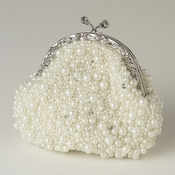 Ivory Pearl, Sequin & Rhinestone Evening Bag 318