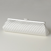 Ivory Pleated Satin Evening Bag 319