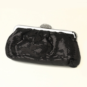 Black Sequin & Rhinestone Evening Bag 320