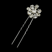 Silver Clear Rhinestone Hair Pin 3420