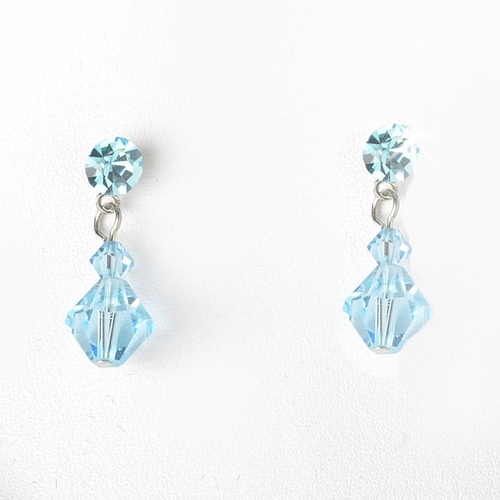 * Turquoise Swarovski Crystal Bridal Jewelry Set NE 231