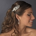 Charming Silver Floral Hair Comb w/ Clear Crystals & Rhinestones 9804