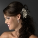 Lovely Ivory Rum Pink Floral Hair Comb w/ Freshwater Pearls 9813