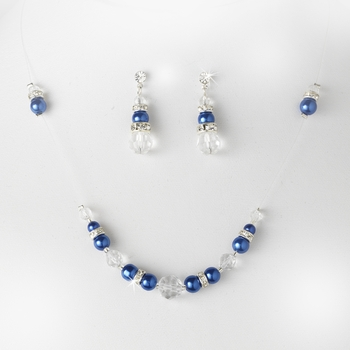 * Blue Clear Illusion Jewlery Set NE 230
