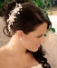 Elegant Silver with Pearl & Crystal Bridal Side Comb 7822 Silver