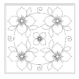 178 Rocket Flower Pattern Set