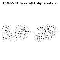 256 Feathers with Curliques Border Set