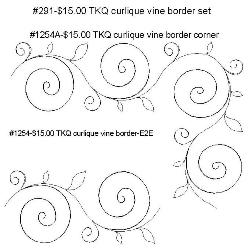 291 Curlique Vine Border Set