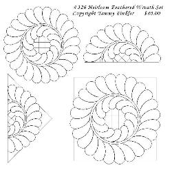 326 TKQ Heirloom Feathered Wreath Set