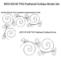 332 TKQ Feathered Curlique Border Set
