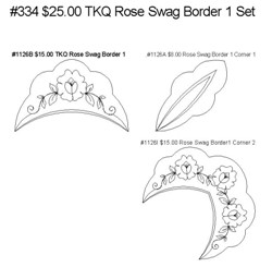 334 Rose Swag Border 1 Set