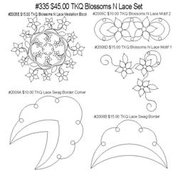 335 TKQ Blossoms & Lace Medallion Set