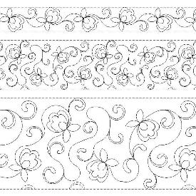 "R102 TKQ Pretty Posies 11"",6"" E2E and 3"" Border"
