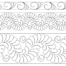 R103 TKQ Feathers with Curliques Border/Sash Patterns
