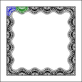 2245A Feather Border Corner Motif