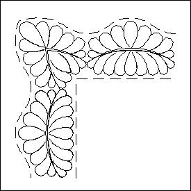 Scalloped Feather Border