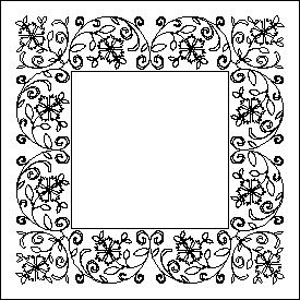 Marian's Floral Swag Border