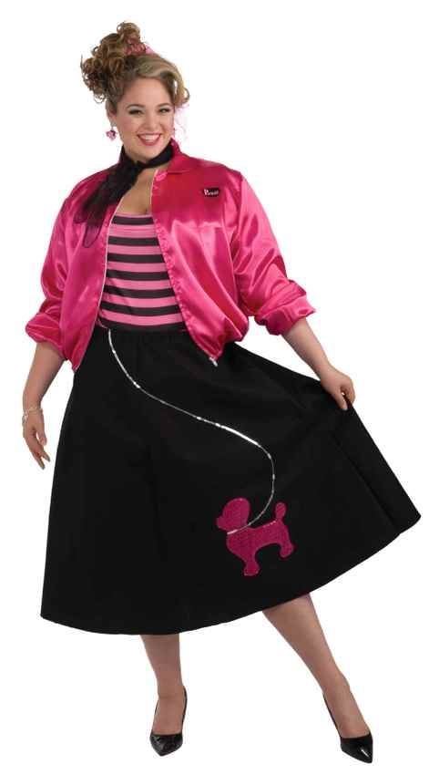 Plus Size Adult Nifty Fifties Sock Hop Costume - Candy Apple ...