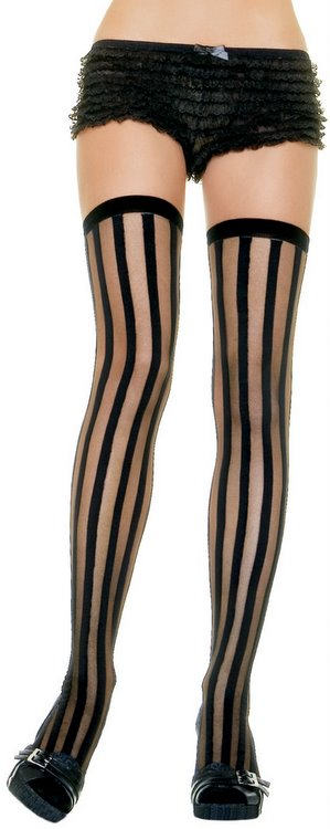 3a0c54c27 Adult Vertical Striped Thigh High Stockings - Candy Apple Costumes ...