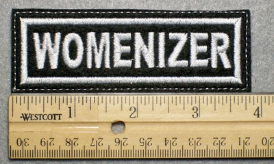 1034 L - WOMENIZER - Embroidery Patch - White Border White Letters