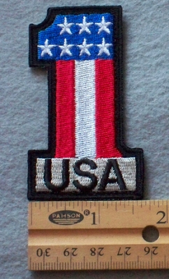 890 B - USA #1 -  Embroidery Patch