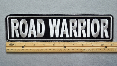 "444 L - ROAD WARRIOR 11"" - EMBROIDERY PATCH - GRAY - FREE SHIPPING!"