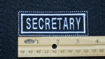 662 L - SECRETARY PATCH - Embroidery Patch