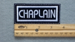 577 L - CHAPLAIN PATCH - WHITE - Embroidery Patch