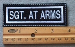 922 L - Sgt. At Arms -  Embroidery Patch