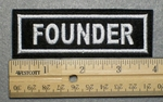 1044 L - FOUNDER - Embroidery Patch - White Border White Letters