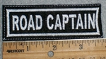 1668 L - Road Captain - White - Embroidery Patch