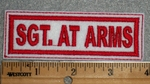 1669 L - Sgt. At Arms - White Background - Embroidery Patch