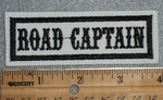 1667 L - Road Captain - Gray Background - Embroidery Patch