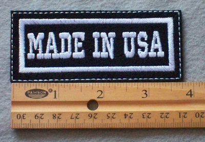 903 L - Made In USA -  Embroidery Patch