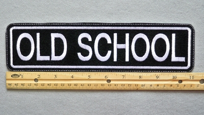 "450 L - OLD SCHOOL 11"" - EMBROIDERY PATCH - WHITE - FREE SHIPPING"
