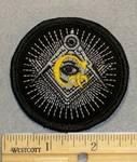 2058 W - Mason Logo - Round - Embroidery Patch