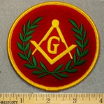 2083 W - Masons Logo - Round - Embroidery Patch