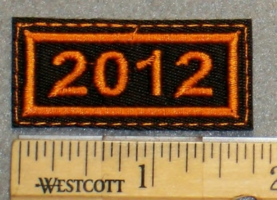 2092 L - Year 2012 Mini Patch - Embroidery Patch