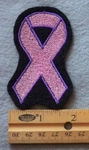 848 L -  Breast Cancer Ribbon Embroidered Patch