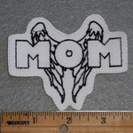 1674 L - Angel Wings With MOM - Embroidery Patch