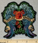 1845 N - Fallen Angel Wings,Skulls And Roses