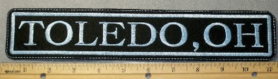 1882 L - Toledo, Oh - Straight Top Rocker - Embroidery patch