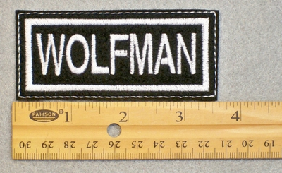 142 L - WOLFMAN - EMBROIDERY PATCH - FREE SHIPPING