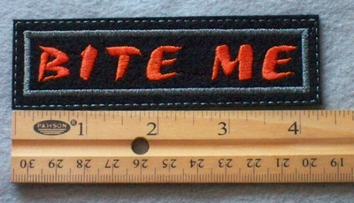 842 L - Bite Me Embroidered Patch